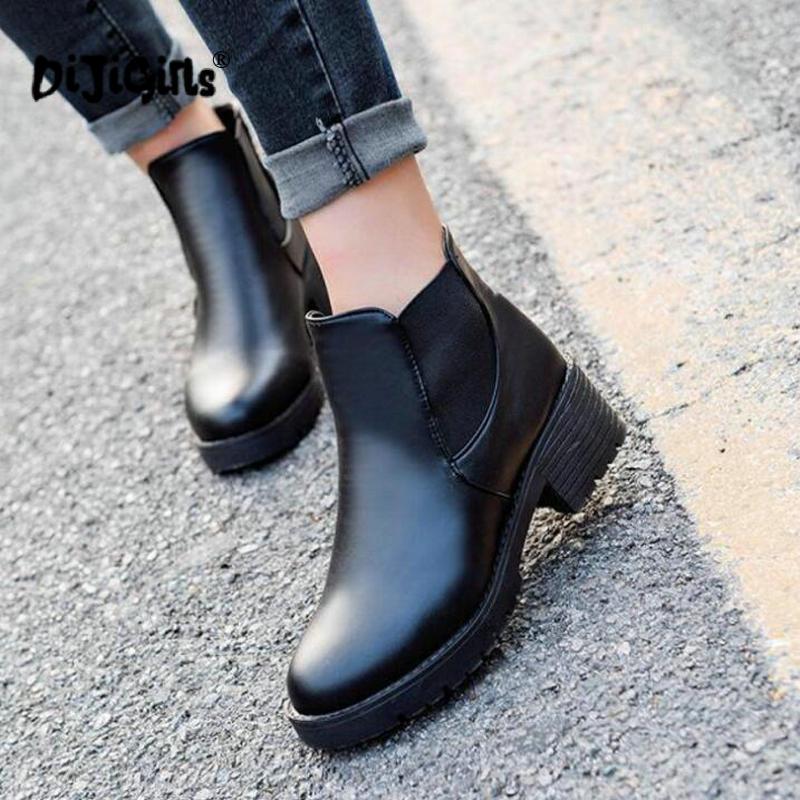 a2 Nieve Cuero Otoño 40 Martin Pu A1 Botas La Casuales De Zapatos Plus Size35 Las Mujer Mujeres Invierno Moda 7q41xU4