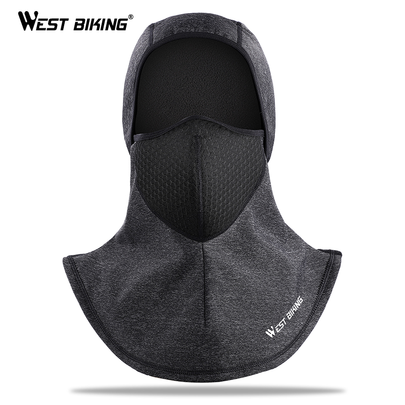 цены WEST BIKING Winter Cycling Caps Fleece Thermal Keep Warm Windproof Bicycle Bike Face Mask Ski Hat Headwear Balaclava Cycling Cap