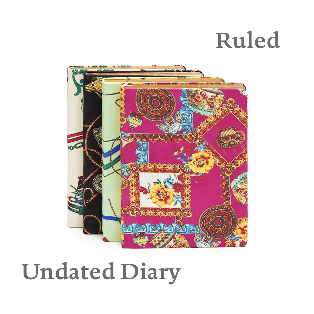 Hard Cover Audrey Notebook Smooth Textile Flexy Journal Fabric Undated Diary flexy