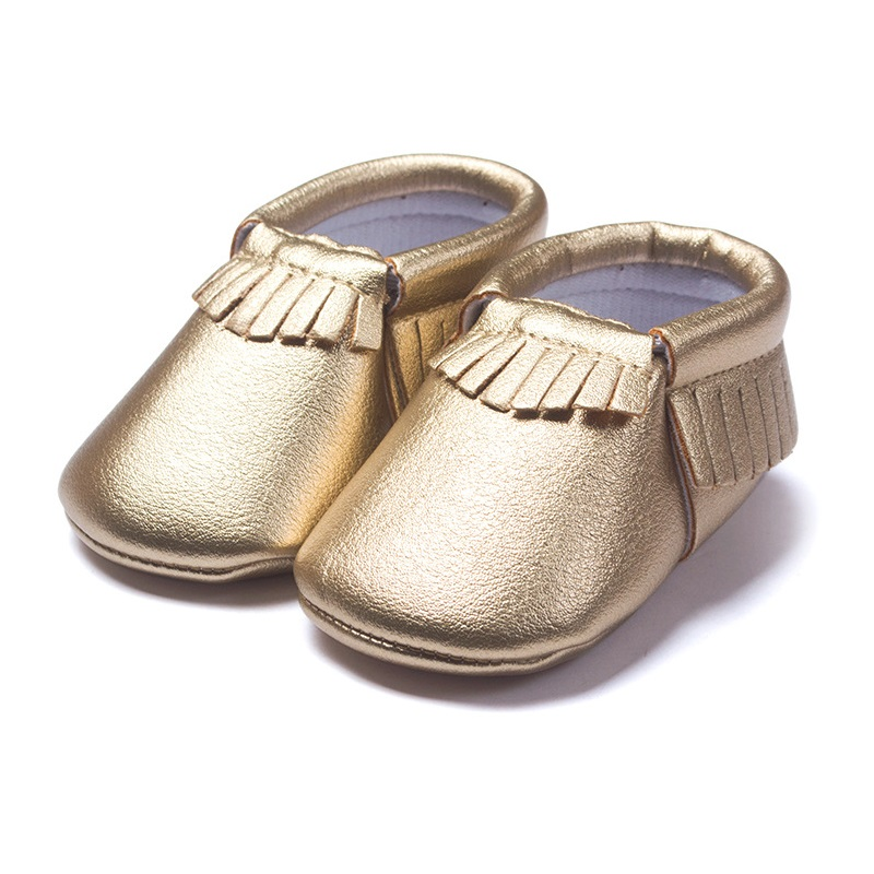 Gold Baby Boy Shoe Children moccasins Bebe Sneakers Toddler First Walker PU Soft Fringe Newborn Shoes PU Leather Soft Sock