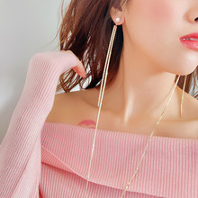 ECODAY Fashion Crystal Long Necking Earrings Conjoined Drop for Women Pendientes Brincos 2019 Statement Jewelry
