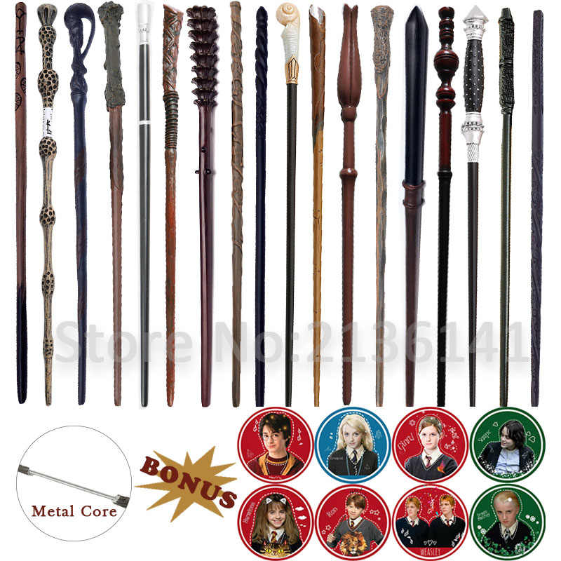 19 Kinds of Harry Wands Colsplay Metal/Iron Core Dumbledore Magical Wand Varinhas Kid Magic Wand No Box with Gift Harry Prop