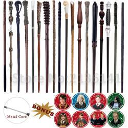 19 видов Harri Potter Wands Colsplay металл/Железный сердечник Albus Дамблдор Волшебная палочка Varinhas Kid волшебная палочка без коробки с подарком