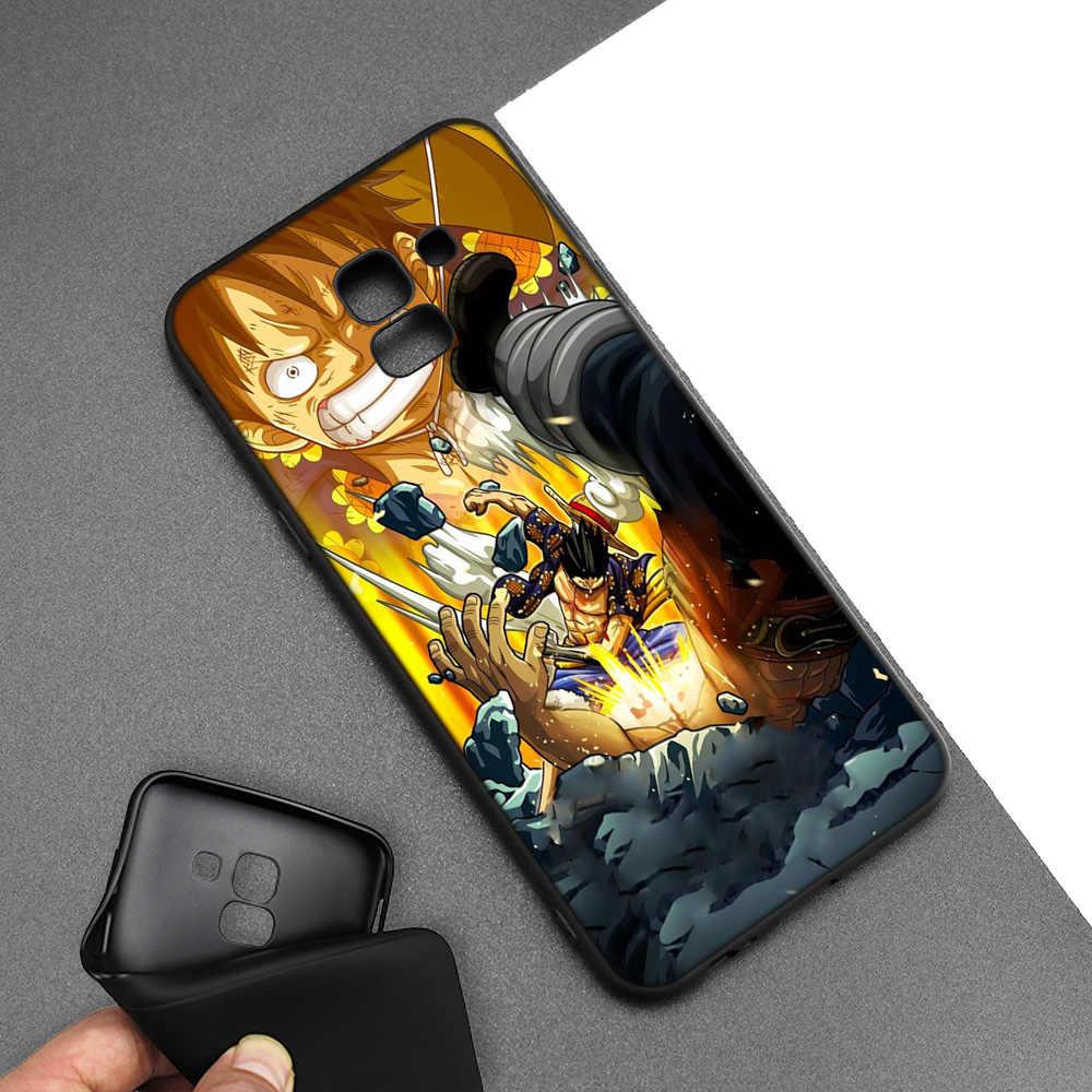 Силиконовый чехол для samsung Galaxy J4 J6 A6 A8 плюс A7 A9 J8 2018 A5 2017 Мягкая Обложка Shell Одна деталь Луффи обезьяна