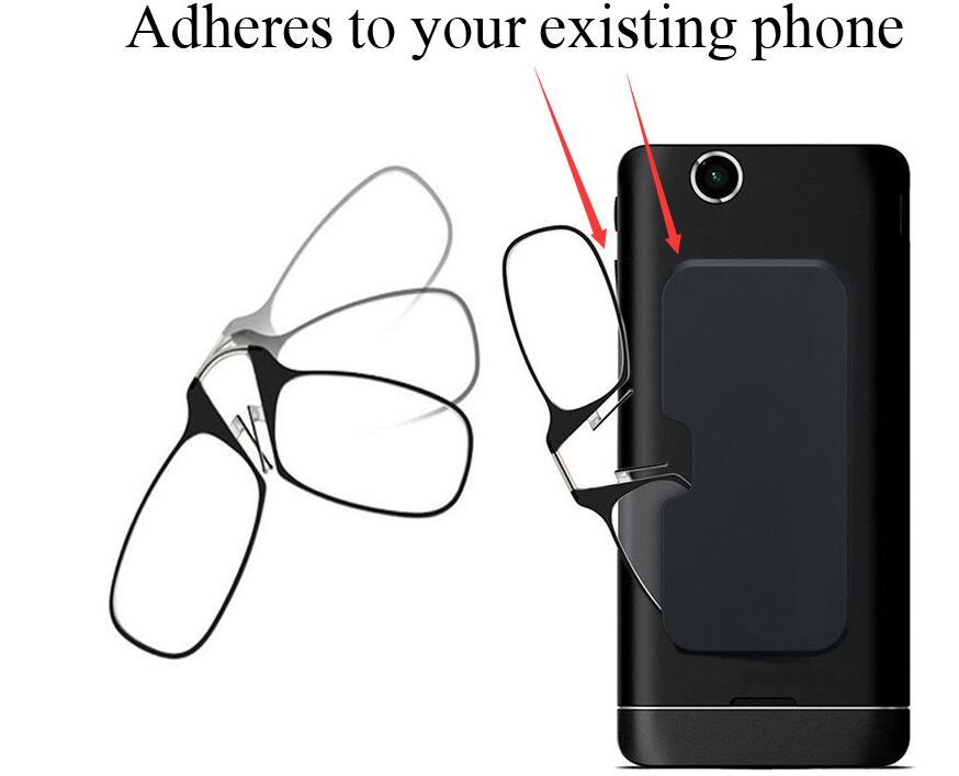 WEARKAPER pegar en cualquier lugar, ir a todas partes las mujeres de los hombres gafas de lectura más Universal Pod caso, marco negro, caso negro + 1,0 + 1,5 + 2,0