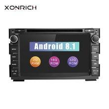 2 Дин Радио Android 8,1 DVD плеер автомобиля Мультимедиа для Kia Ceed 2010 2011 2012 Venga GPS навигационная система ГЛОНАСС аудио стерео wi fi
