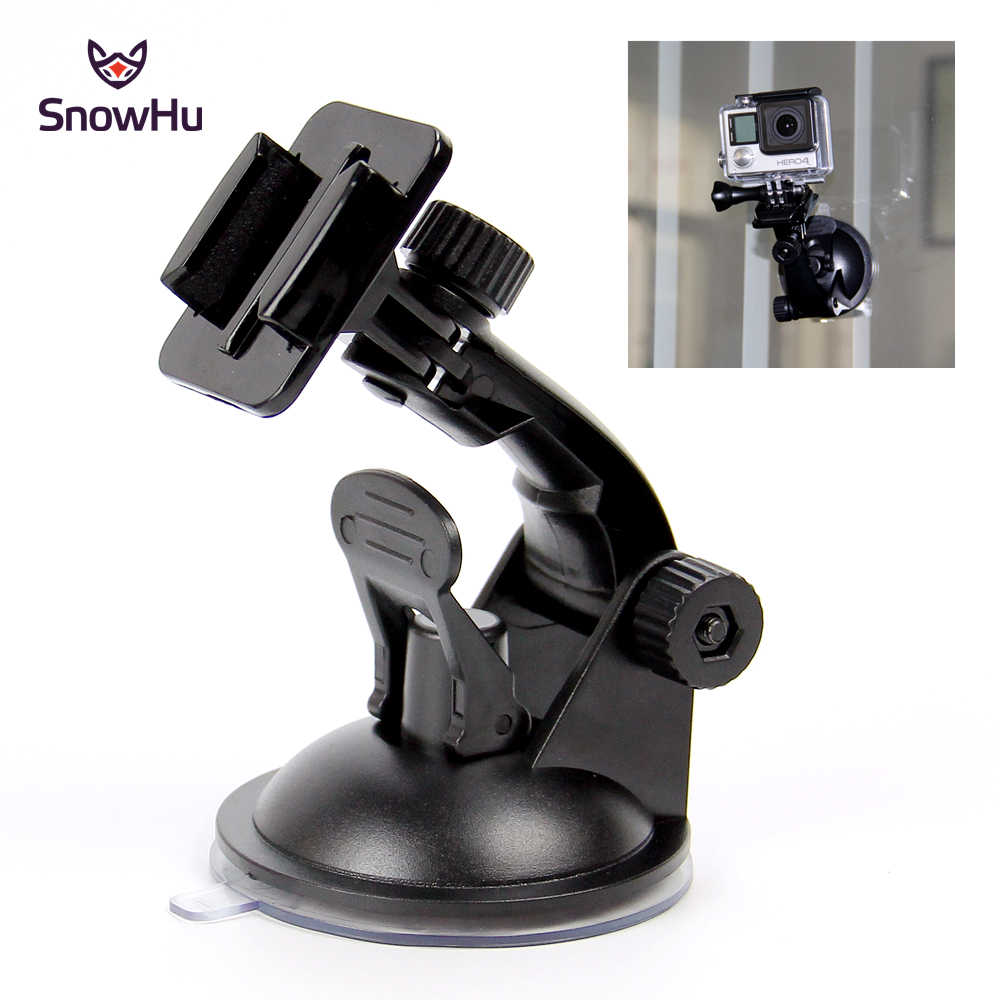 SnowHu for Go Pro Accessories 7cm Car Mount Windshield Suction Cup for Gopro Hero 8 7 6 5 4 3+ for SJCAM for Xiaomi for Yi GP17