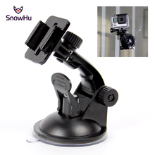 SnowHu for Go Pro Accessories 7cm Car Mount Windshield Suction Cup for Gopro Hero 9 8 7 6 5 4  for SJCAM for Xiaomi for Yi GP17