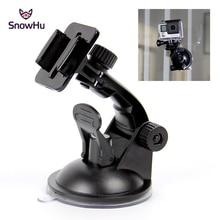 SnowHu for Go Pro accessori 7cm supporto per auto ventosa per parabrezza per Gopro Hero 9 8 7 6 5 4 per SJCAM per Yi 4K GP17