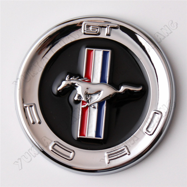 1x Universal 3d Chrome Horse Car Emblem Stickers For Ford Mustang