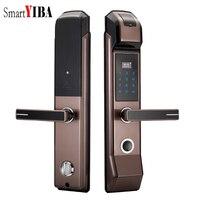 SmartYIBA Smart Fingerprint Door Lock Keyless Lock Unlock Door With Fingerprint+Password+IC Card+Keys 4 Unlock Ways For Home