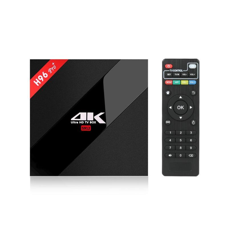 H96 PRO+Android 7.1.1 TV Box S912 Octa Core 64Bit 2GB/16GB Mini PC H.265 UHD 4K VP9 HDR 2.4/5G Dual WiFi Bluetooth Media Player 2018 lastest himedia h8 pro 2gb 16gb octa core uhd smart android tv box wifi 3d 4k media player pk mi box 3 x96 mini h96 pro x92