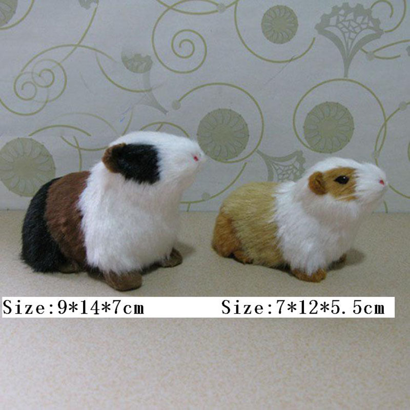 Lovely Guinea pigs  Artificial Animal Model About  Guinea pigs  Toy Fur& Polyethylene Deer Toy  Furnishing Gift pigs have wings