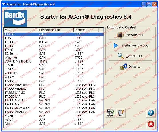 HEAVY DUTY ABS TRACTOR/TRAILER DIAGNOSTIC KIT For Bendix ... on