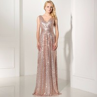 Sparkly-Rose-Gold-Sequin-Evening-Dresses-Gowns-2016-V-Neck-Pleated-Long-Party-Dress-A-Line.jpg_200x200