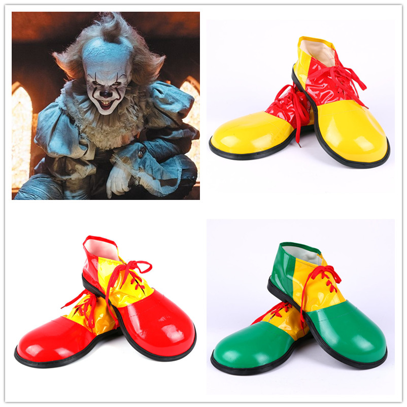Halloween Stephen King's It Cosplay Clown Costume Adults Clowns Dress Clown Shoes Anime Shoes Funny Big Head Shoes Party Prop
