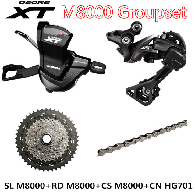 SHIMANO DEORE XT M8000 Groupset MTB Mountain Bike Groupset 1x11 Speed 40T 42T 46T SL+RD+CS+CN M8000 Shift Lever Rear Derailleur