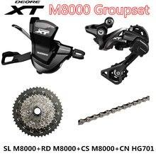 Zestaw grupowy SHIMANO DEORE XT M8000 MTB Mountain Bike 1x11 biegowa 40T 42T 46T SL + RD + CS + CN M8000 dźwignia zmiany biegów przerzutka tylna