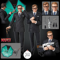 Kingsman: The Secret Service Medicom Toy MAFEX 072 073 Agent Harry Hart Eggsy DC Doll Gift Toys Action Figure