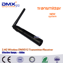 Free shipping Wireless DMX512  Male XLR Transmitter 2.4G ISM DMX512 LED Lighting for Stage PAR Party Light with Antenna 2 in 1