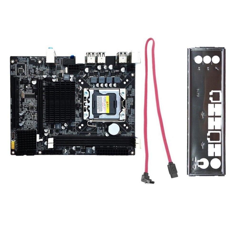 New Desktop Motherboard Computer Mainboard For X58 LGA 1366 DDR3 16GB Support ECC RAM For Quad-Core Six-Core Needle 8PIN asus p8z68 m pro desktop motherboard z68 socket lga 1155 i3 i5 i7 ddr3 32g sata3 usb3 0 uatx
