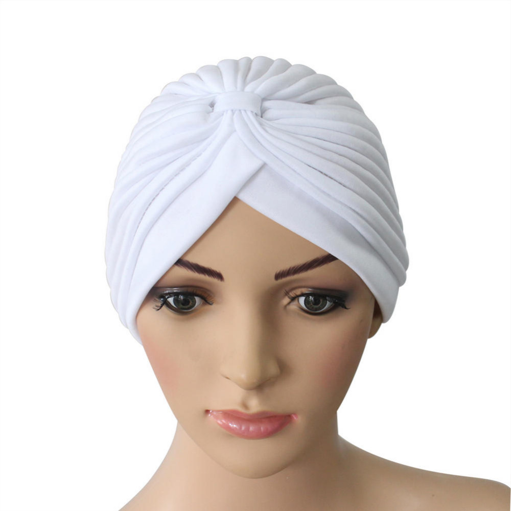 White Cloche Turban Headwrap Holiday Stretchy Hat Cap  Head Hair Cover Outdoor Travel Camping Sun Protector Supplies женская фетровая шляпа brand new 2015 fedora cloche hat cap 6 bm890