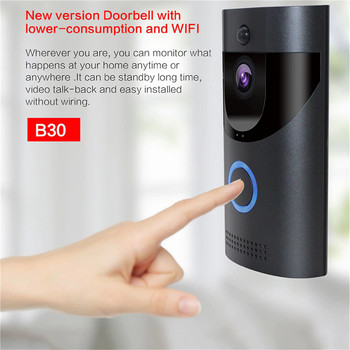 Wireless Smart Door Bell IP Video Intercom WI-FI Video Door Phone Security Camera Wifi Doorbell For Apartments IR Alarm 1