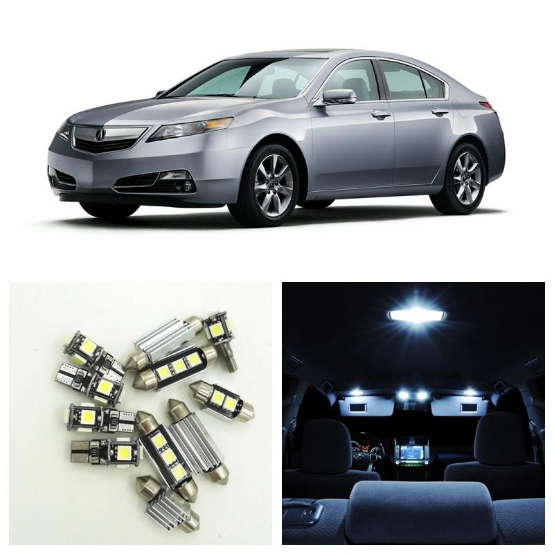 10pcs White Car LED Light Bulbs Interior Package Kit For