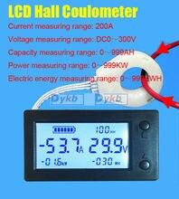 Compteur numérique Hall DC 0 ~ 300V 50A 100A 200A 400A /999AH/999KW/999KWH testeur de batterie coulomètre batteries plomb acide/Lithium