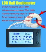 ホールデジタルメーターdc 0 〜 300v 50A 100A 200A 400A /999AH/999KW/999KWH電量計バッテリーテスター鉛酸/リチウム電池