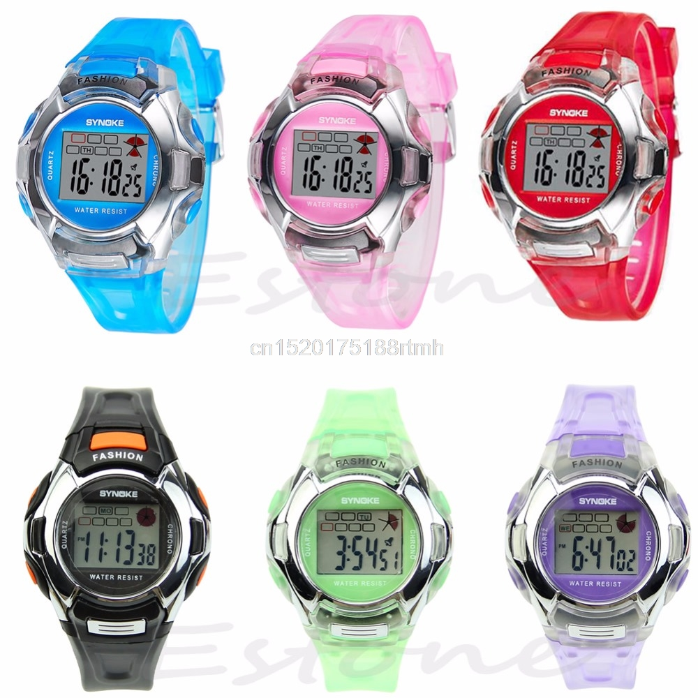 Multifunction Electronic Waterproof Sport Digital Wrist Watch For Child Boy Girl