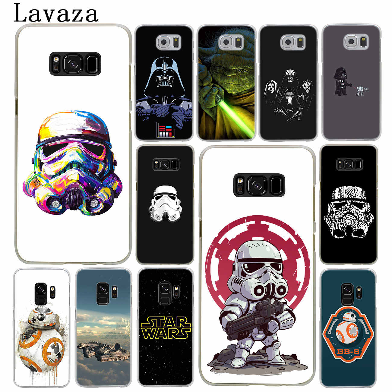 the best attitude fc93d 8b7a6 Lavaza Star Wars logo Hard Phone Case for Samsung Galaxy S10 S10E S8 Plus  S6 S7 Edge S9 Plus Cover