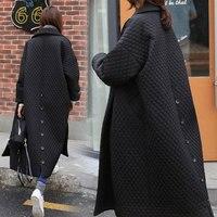2020 winter black long coat ladies jacket high quality single breasted fashion basic loose ladies Parker jacket W612