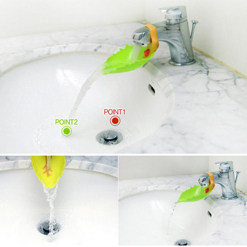 1 pc Baby Faucet Extender Leaf And Crab Design Baby Kids Hand Washing Sink Gift Plastic Faucet Extender  Cute Shape