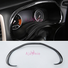 2016 2018 Carbon Fiber Color Dashboard Driving Computer Overlay Trim Cover Chrome Car Styling For Jeep