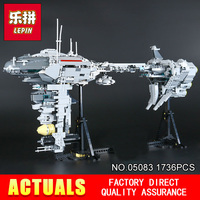 2017 New LEPIN 05083 Star Wars Series Dental Warships 1736Pcs Educational Building Blocks Bricks Toys Model