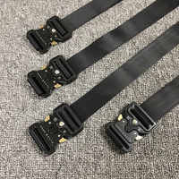 19S high quality NEW ALYX Belt Rollercoaster Metal button canvas Hip hop men women street wear safety belt ALYX belt Fashion