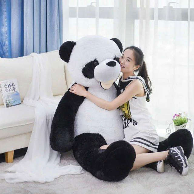 Online Shop 300cm Giant Smile Panda America Big Panda Bear Stuffed
