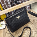 UKQLING Women Bag Casual Shoulder Bag PU Material Women Messenger Crossbody Small Bag Knitting Pattern Bag Purse Bolsas