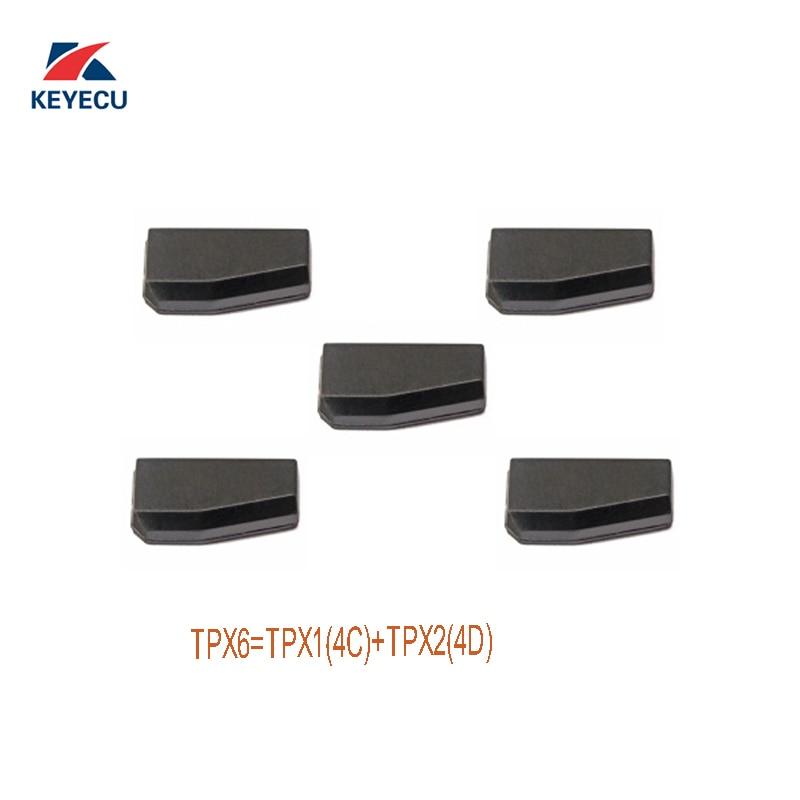 KEYECU 5Pcs JMA Carbon TPX6 Repeatable Clone Chip TPX6 TPX1 4C TPX2 4D