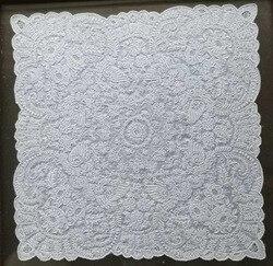 Nieuwigheid Zakdoeken 11x11 inch Wit Linnen Vintage Bloemen Hankie Hanky Prachtige Hand Made geborduurde zakdoek ornamenten