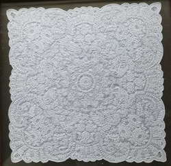 Novelty Handkerchiefs 11x11inch White Linen Vintage Floral Hankie Hanky Exquisite Hand Made embroidered handkerchief ornaments