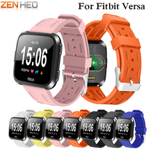 лучшая цена Replacement Watch band Silicone wrist Watchband Strap Bracelet Belt for fitbit versa Smart Watch wristband 2018 New Arrival