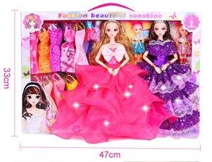 Image 5 - 154 個絶妙なギフトボックスの誕生日プレゼントdiy人形教育玩具プリンセスの人形セット服ままごとのおもちゃコスプレ