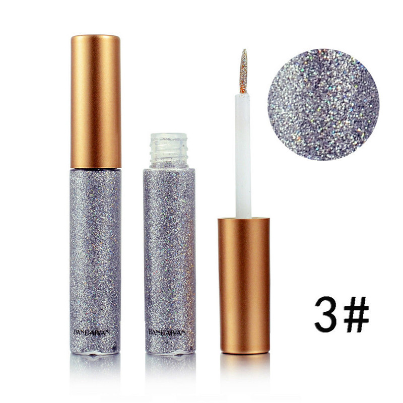 Image 5 - 2019 Hot 10 colors Eyeliner Liquid Make Up Beauty Comestics sequins Eye Liner glitter shimmer shiny High Quality Waterproof-in Eyeliner from Beauty & Health