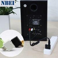 NBEI U01 Беспроводной приемник Bluetooth аудиоприемник aux адаптер музыке стерео usb 3,5 мм Джек усилитель ресивер RCA для Динамик