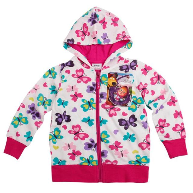 butterfly kids hoodies children wear jacket zipper new year Sweatshirts for teenage girls baby sports suits cotton clothing