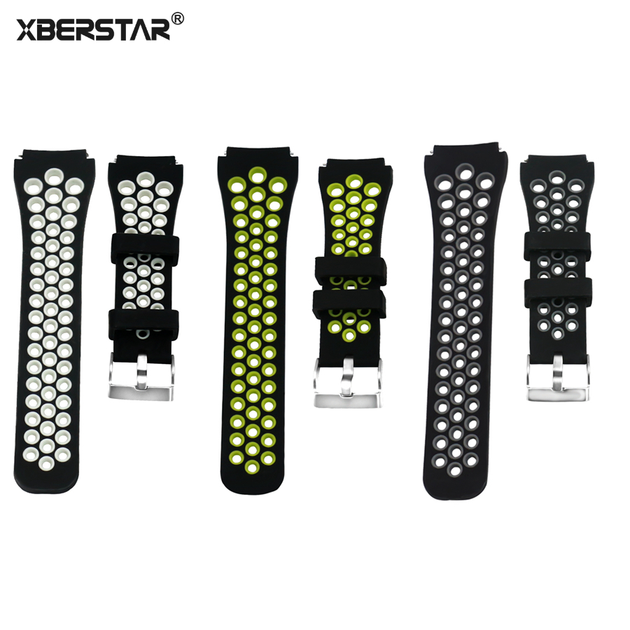 XBERSTAR Silicone Strap Watchband For Samsung Gear S3 Frontier Classic SM-R760 SM-R770 Smart watch Wristband Strap SPORTS Style luxury silicone watch replacement band strap for samsung gear fit 2 sm r360 wristband 100