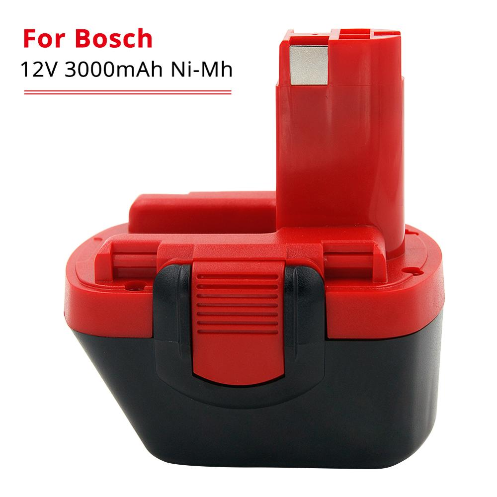 3000mAh Ni-MH 12V Drill Battery For Bosch 12V BAT043 BAT045 BAT046 BTA120 BAT139 GSR 12 VE-2 PSR 12VE-2