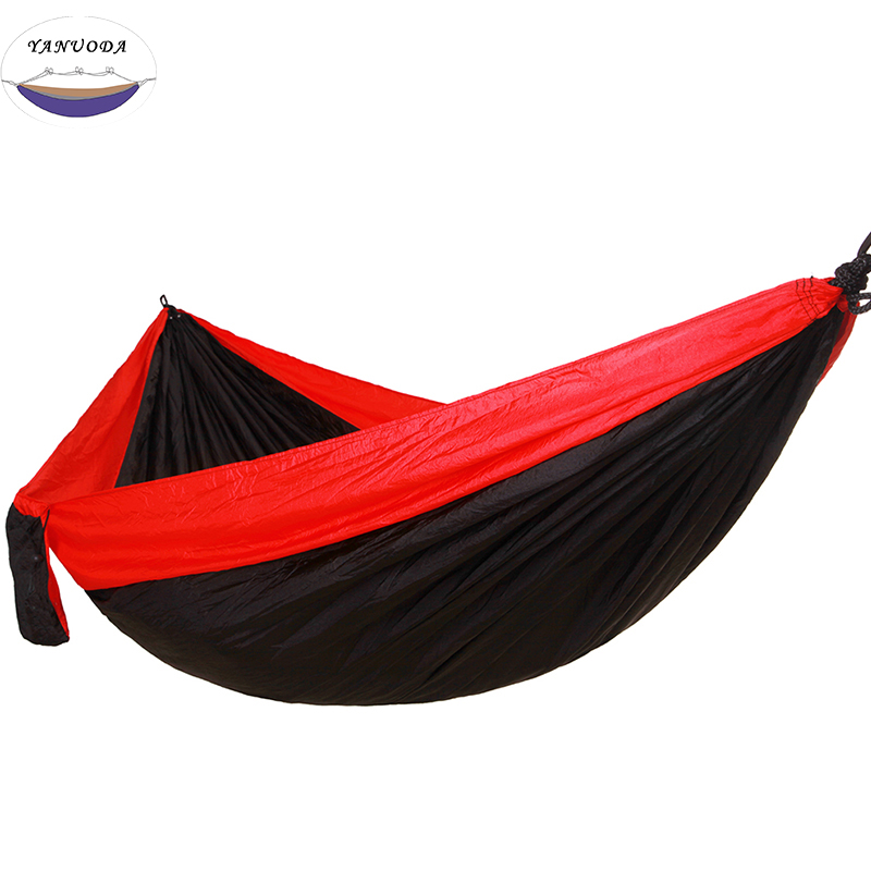 High Strength Portable Camping Hammock Portable Parachute Nylon Fabric Travel Ultralight Camping Double Wide Outdoor 260*140cmHigh Strength Portable Camping Hammock Portable Parachute Nylon Fabric Travel Ultralight Camping Double Wide Outdoor 260*140cm
